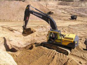 Услуга разработки карьера для добычи песка