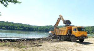 Строительство пляжа с нуля в Нижнем Новгороде